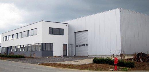 Nouveau bâtiment d'Hydrotec dans le zoning nord à Wavre