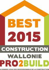 Hydrotec nominé au Best 2015 Construction Wallonie